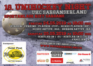 Flyer Unihockeynight 2019